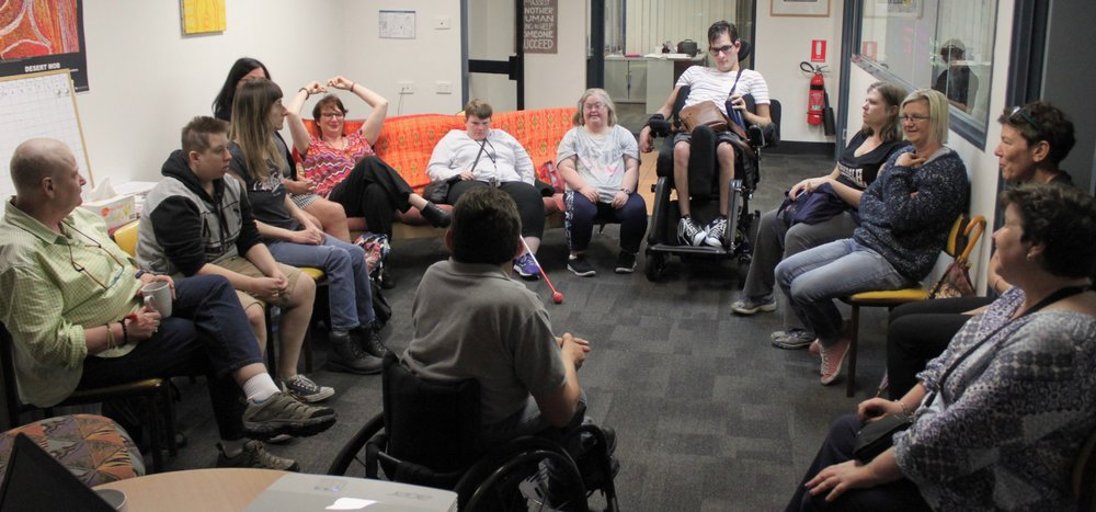 CDAH team meeting, sitting in a circle