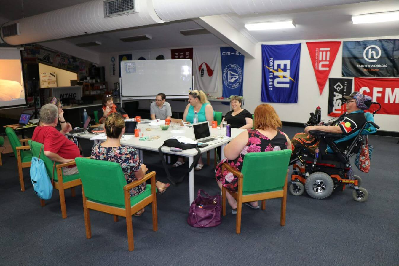People with disabilities meeting